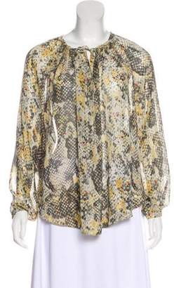 Isabel Marant Long Sleeve Silk Blouse