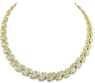 One Kings Lane Vintage 1920s Art Deco Floral Crystal Necklace - Neil Zevnik