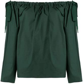 Rochas off shoulder ruffle top