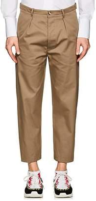 Valentino Men's Cotton Twill Carrot-Leg Trousers