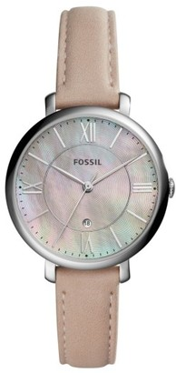 Women's Fossil Jacqueline Leather Strap Watch, 36Mm $105 thestylecure.com