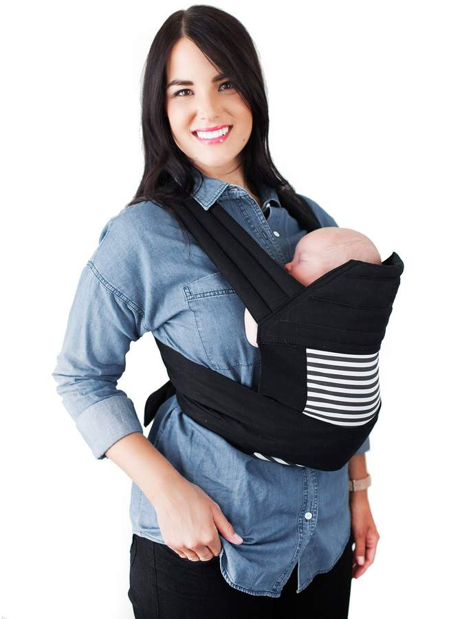 Moby Meh Dai Stripes Baby Carrier in Black
