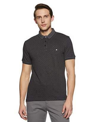 Something for Everyone Grey Men's Polo Pique Jacquard Regular Fit T-Shirt