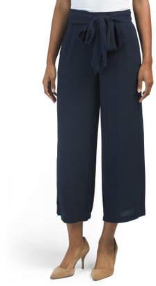 High Waist Paper Bag Waist Pants