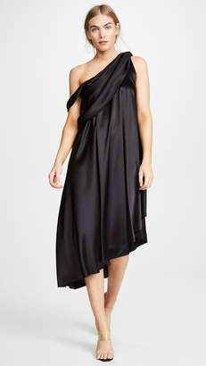 Baja East Wrap Drape Dress