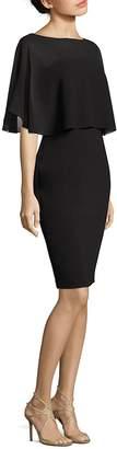 Badgley Mischka Women's Crepe Open Back Dress