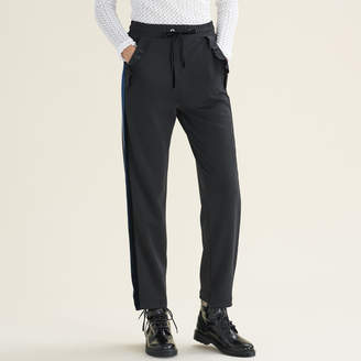 Maje Straight-cut jogging-style trousers