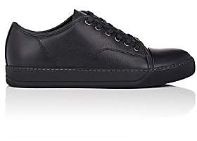 Lanvin Men's Cap-Toe Leather Sneakers - Black