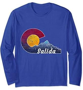 Salida Colorado Long Sleeve Shirt with Flag Inspired Scenery