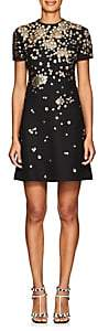 Valentino Women's Sequined Wool-Silk Cady Shift Dress - Black