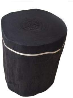 Andrianna Shamaris Cylinder Teak Side Table