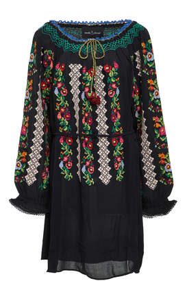 Needle & Thread Embroidered Voile Mini Dress