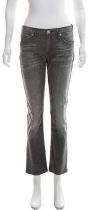 Hudson Mid-Rise Straight-Leg Jeans