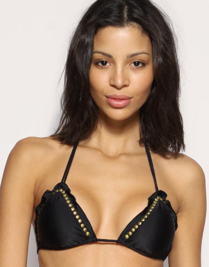 Vix Stud Triangle Bikini Top