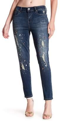 Seven7 Jewel Embellished Ankle Skinny Jeans