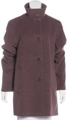 Akris Wool Knee-Length Coat