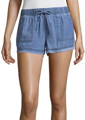 Arizona Chambray Soft Shorts-Juniors