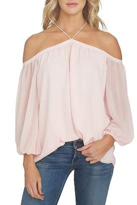 1 STATE 1.STATE Cold-Shoulder Blouse