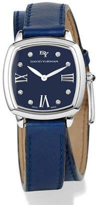 David Yurman 27mm Albion Diamond Leather Strap Watch