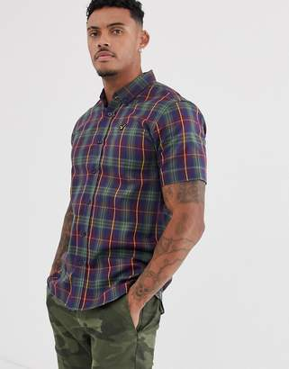 Voi Jeans short sleeved checked shirt