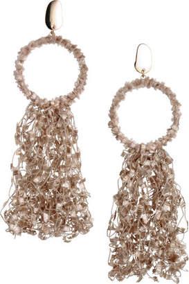 H&M Large Earrings - Beige