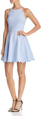 Aqua Scalloped Fit-and-Flare Dress - 100% Exclusive