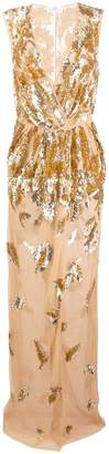 Elisabetta Franchi embellished V-neck dress