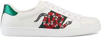 Gucci Snake Ace embroidered leather sneaker