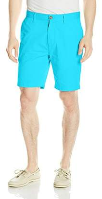 Nautica Men's Cotton Twill Flat Front Slim Fit Chino Short