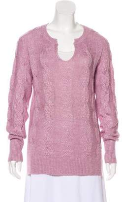 Loro Piana Cashmere-Blend Cable Knit Sweater