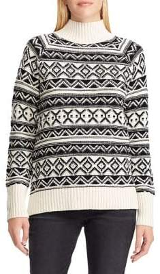 Chaps Petite Printed Long-Sleeve Sweater