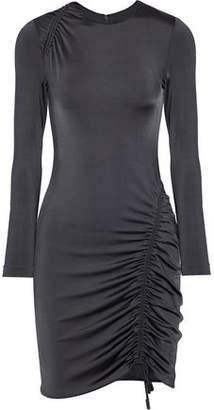 Cushnie et Ochs Elora Ruched Satin-Jersey Mini Dress