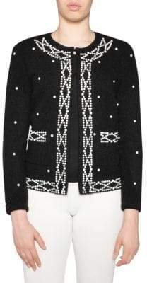 Stizzoli, Plus Size Classic-Fit Pearl-Trim Jacket