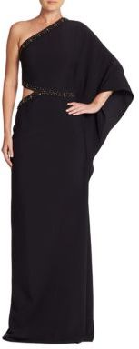Ralph Lauren Collection Mayra One-Shoulder Gown
