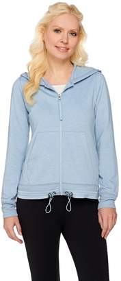 Logo By Lori Goldstein LOGO Lounge by Lori Goldstein French Terry Hoodie with Ribbed Cuffs