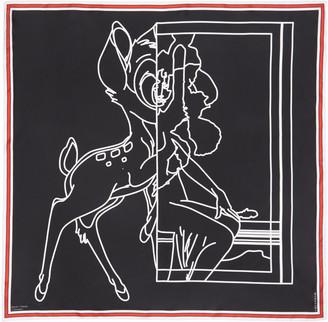 Givenchy Black Bambi Negative Scarf $495 thestylecure.com