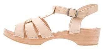 Tocoto Vintage Girls' Wooden Multi-Strap Sandals