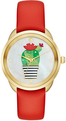 kate spade new york Women's Crosstown Prickly Pear Leather Strap Watch 34mm KSW1307 $195 thestylecure.com