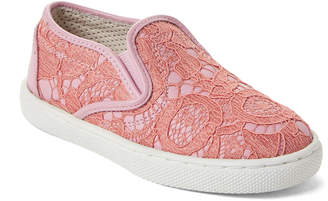 Dolce & Gabbana Toddler/Kids Girls) Pink Lace Slip-On Sneakers