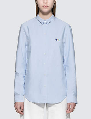 MAISON KITSUNÉ Tricolor Fox Patch Classic Oxford Shirt
