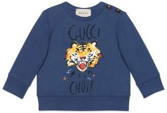 Gucci Baby sweatshirt with Choir tiger