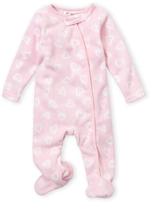 Baby Essentials Babaluno (Newborn Girls) Heart Print Sleep Footie