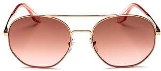 Marc Jacobs Unisex Round Sunglasses, 57mm
