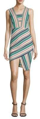 J.o.a. Striped Asymmetrical Dress