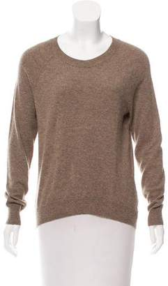 Autumn Cashmere Leather-Trimmed Knit Sweater