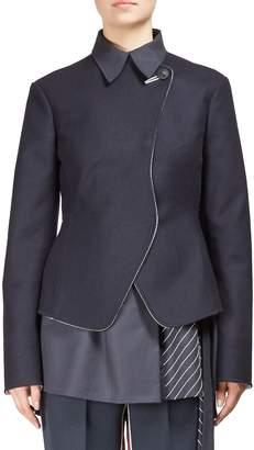 Cédric Charlier Women's Woolen Double-Breasted Jacket