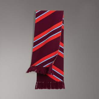 Burberry Tri-tone Striped Wool Cashmere Scarf