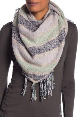 Collection XIIX Stripe Boucle Triangle Scarf