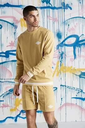 boohoo Quavo Velour Sweater With Rib