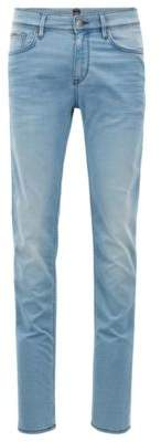 BOSS Hugo Extra-slim-fit jeans in Italian stretch denim 34/32 Turquoise